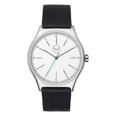 Light wrist watch by SLIM MADE in Sliver and black
